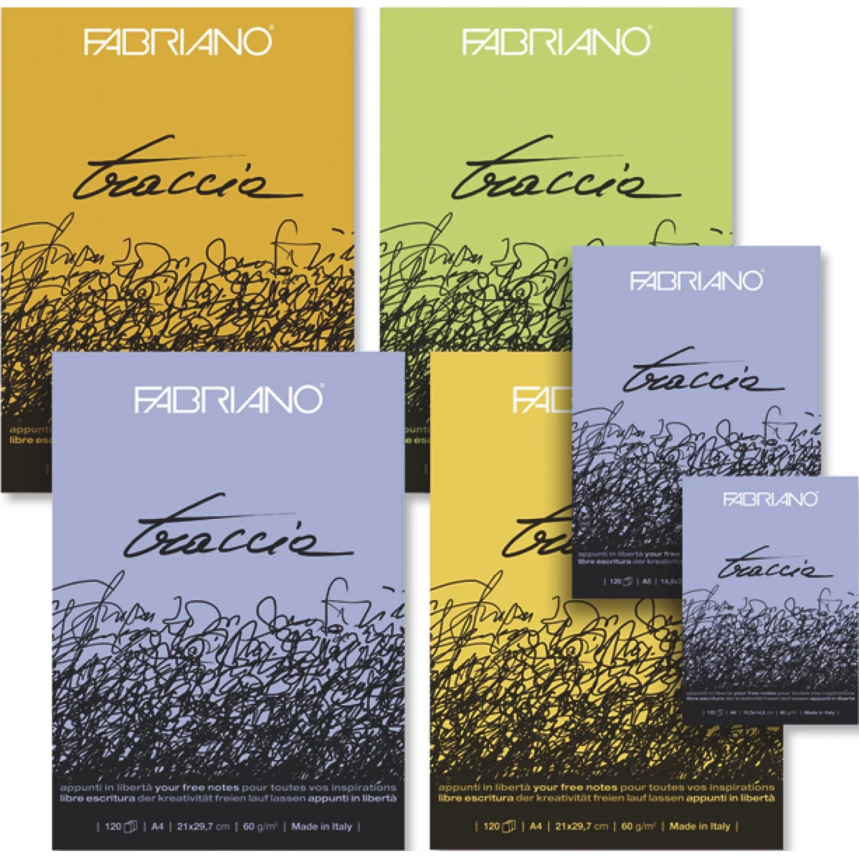 Купить Блокнот-склейка для рисования Fabriano Traccia 14, 8х21 см 120 л 60 г, Италия