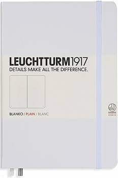 Книга для записей нелинованный Leuchtturm1917 MEDIUM А5 249 л белый, Германия  - купить со скидкой