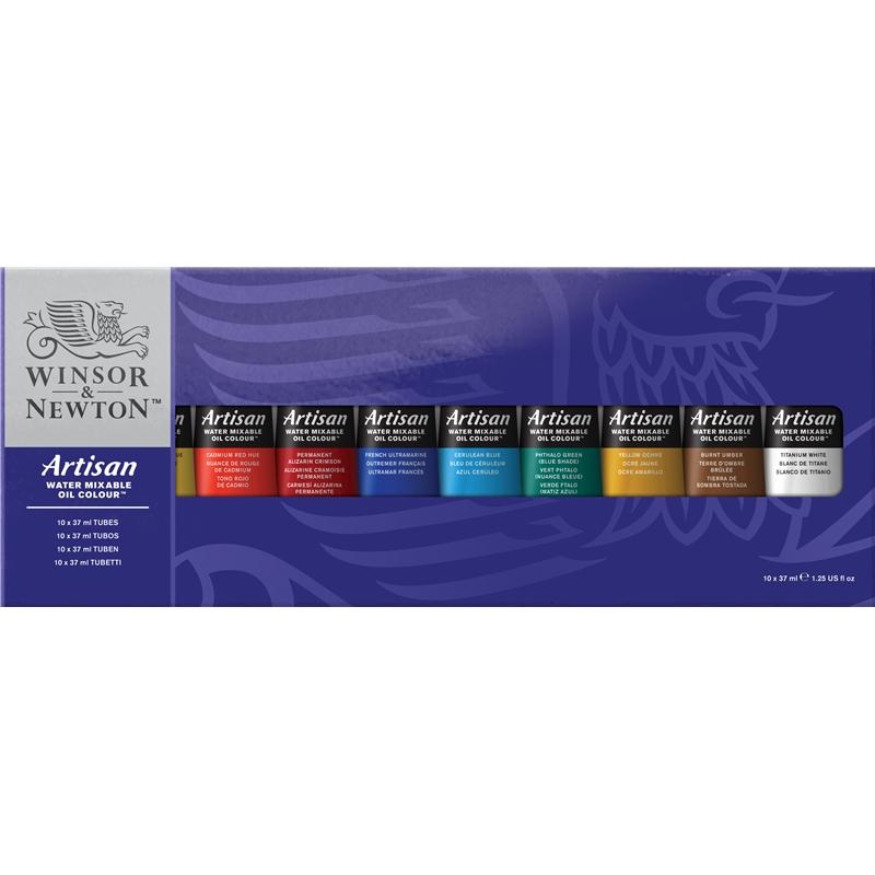 Купить Набор масла Winsor&Newton Artisan 10 цв*37 мл водорастворимого, Winsor & Newton