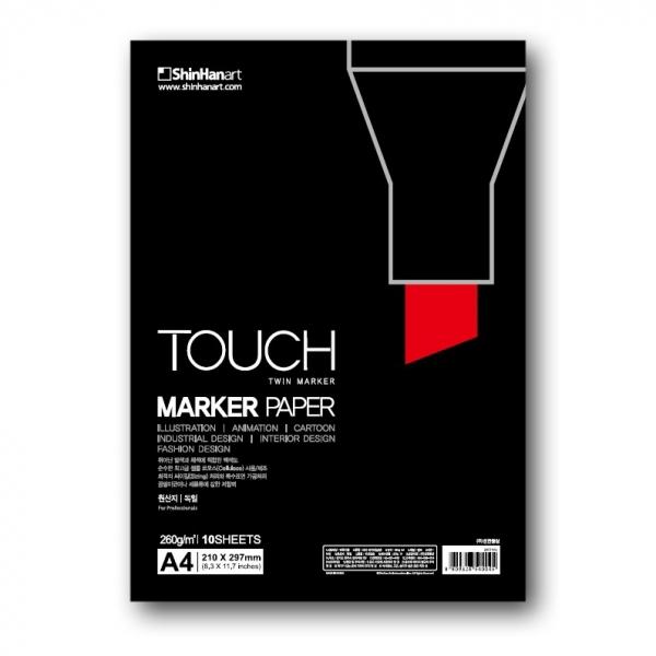 Купить Бумага Touch Marker Paper 10 листов 260 г, разные форматы, ShinHan Art (Touch), Южная Корея