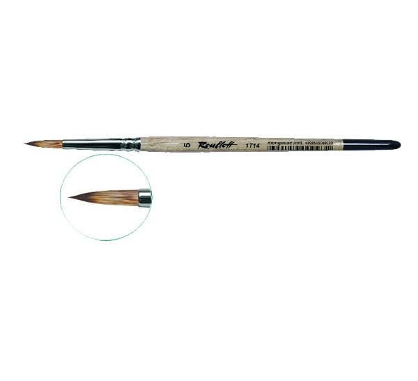 Купить Кисть синтетика мангуст имитация №9 круглая Roubloff 1Т14 короткая ручка, Россия