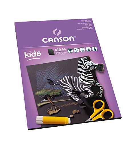 Альбом-склейка для рисования, бумага черная Canson Детское творчество А4 10 л 220 г, Франция  - купить со скидкой