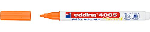 Купить Маркер меловой Edding 4085 1-2 мм с круглым наконечником, оранжевый неоновый, Германия