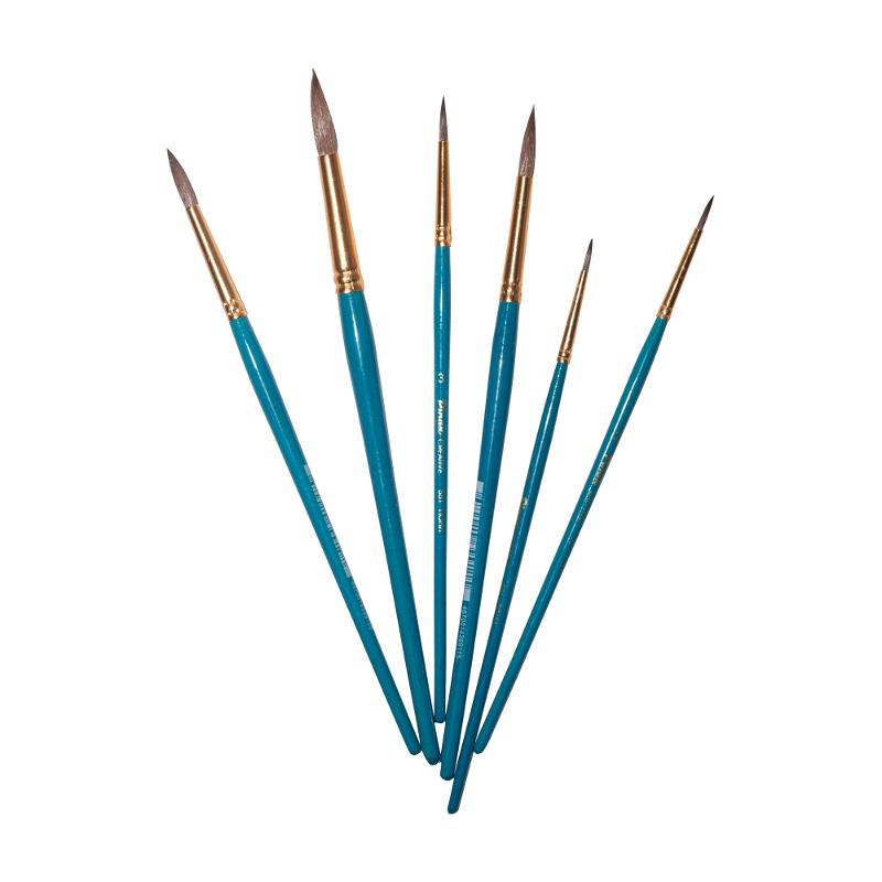 Купить Кисть пони №9 круглая Pinax Creative 551 короткая ручка, Китай
