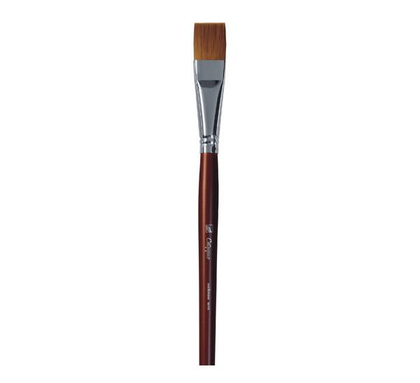 Купить Кисть синтетика №18 плоская Альбатрос Студио длинная ручка, Россия