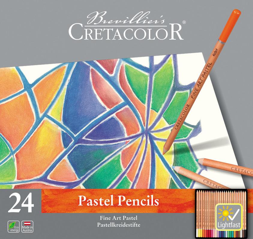 """Набор карандашей пастельных Cretacolor """"Fine Art Pastel"""" 24 шт в металлической коробке"""