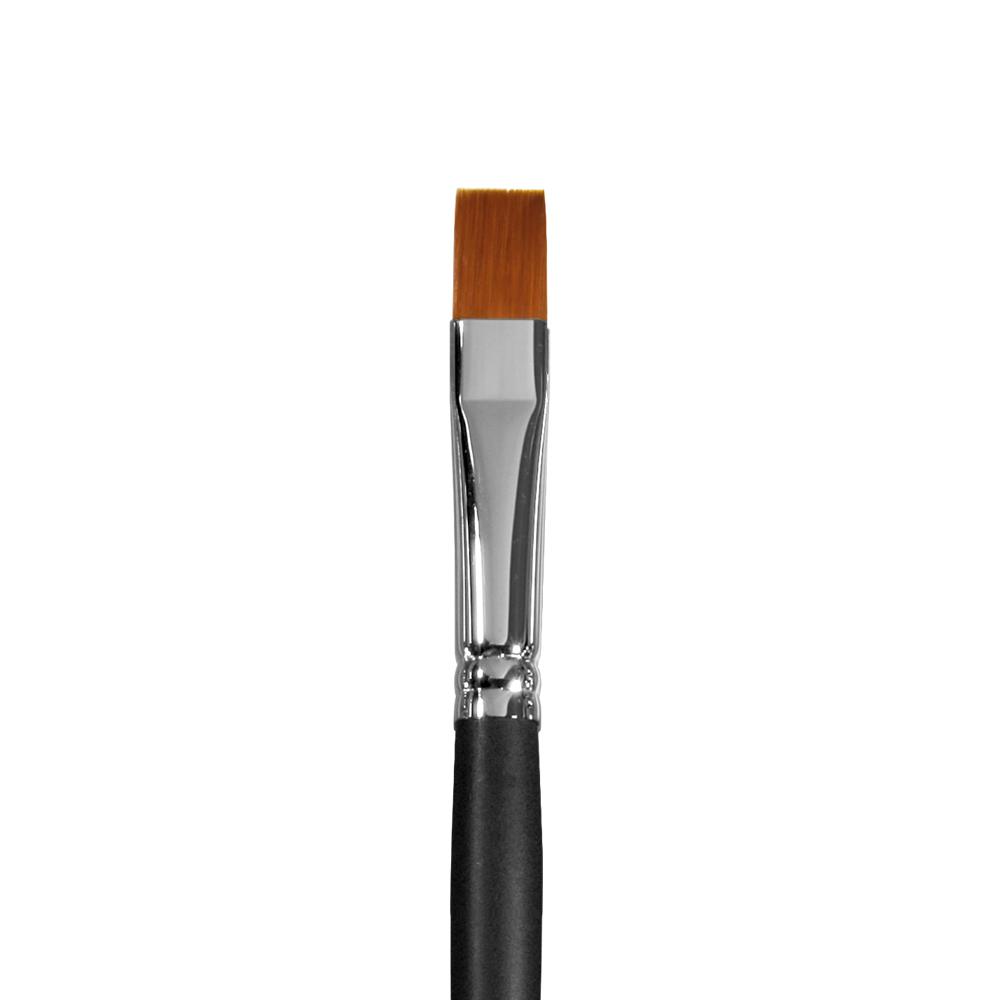 Купить Кисть синтетика №12 плоская Альбатрос Профи длинная ручка, Россия