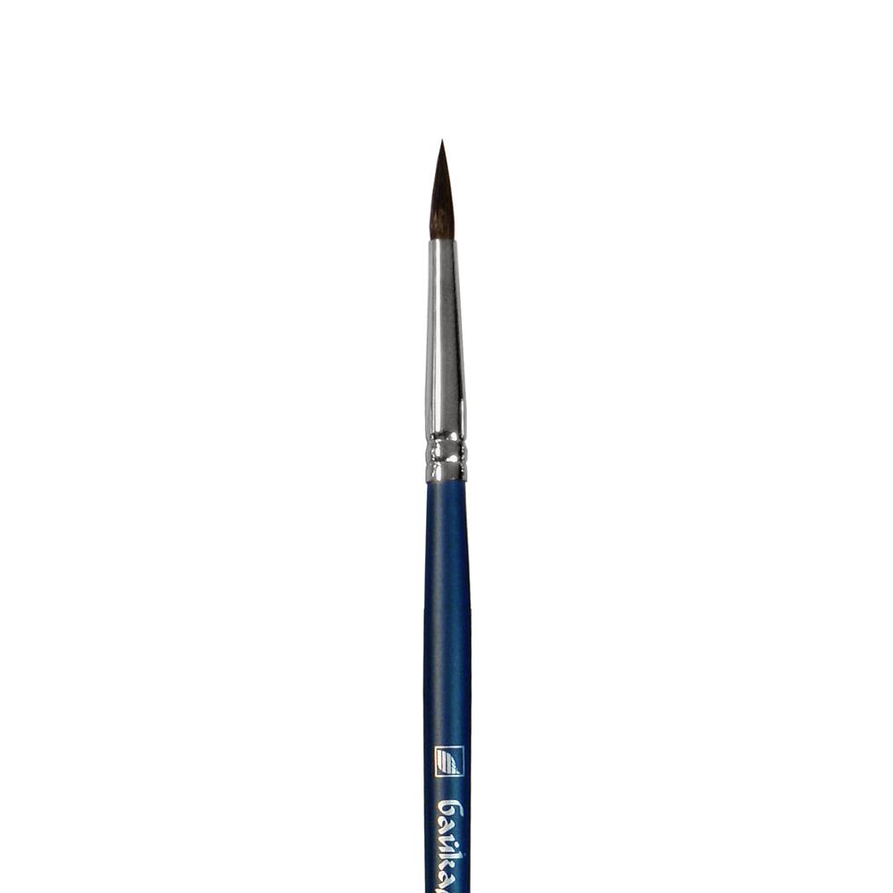 Купить Кисть белка №5 круглая Альбатрос Байкал длинная ручка, Россия