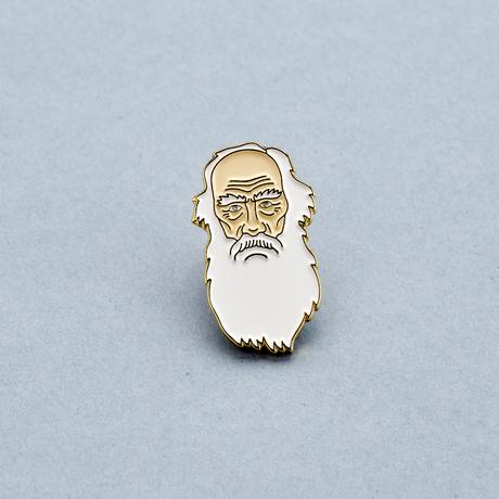 Купить Значок эмалированный Лев Толстой, Подписные издания, Россия