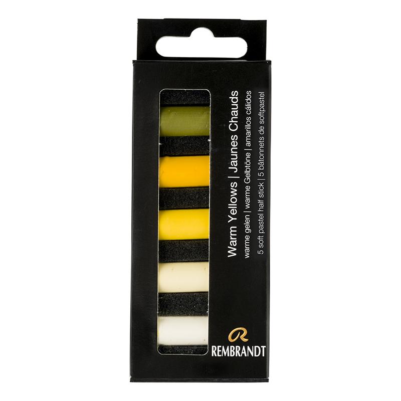 Купить Набор сухой пастели Talens Rembrandt Теплый желтый 5 цв, в картонной коробке, Royal Talens