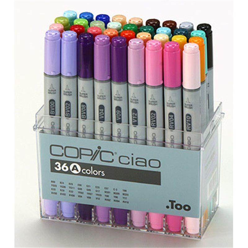 Купить Набор маркеров Copic Ciao 36 шт, Copic Too (Izumiya Co Inc), Япония