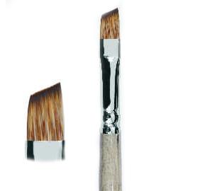 Купить Кисть синтетика мангуст имитация №12 скошенная Живописные кисти 1T64 короткая ручка, Россия