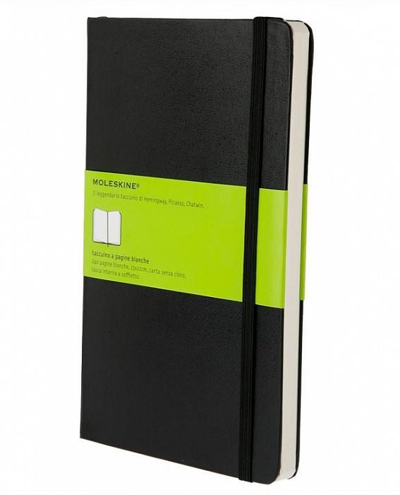 Записная книжка нелинованная Moleskine Classic Large обложка черная.