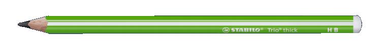 Купить Карандаш чернографитный Stabilo Trio HB, корпус зеленый, Германия