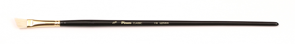 Купить Кисть щетина №3/8 скошенная Pinax Classic 118 длинная ручка, Китай