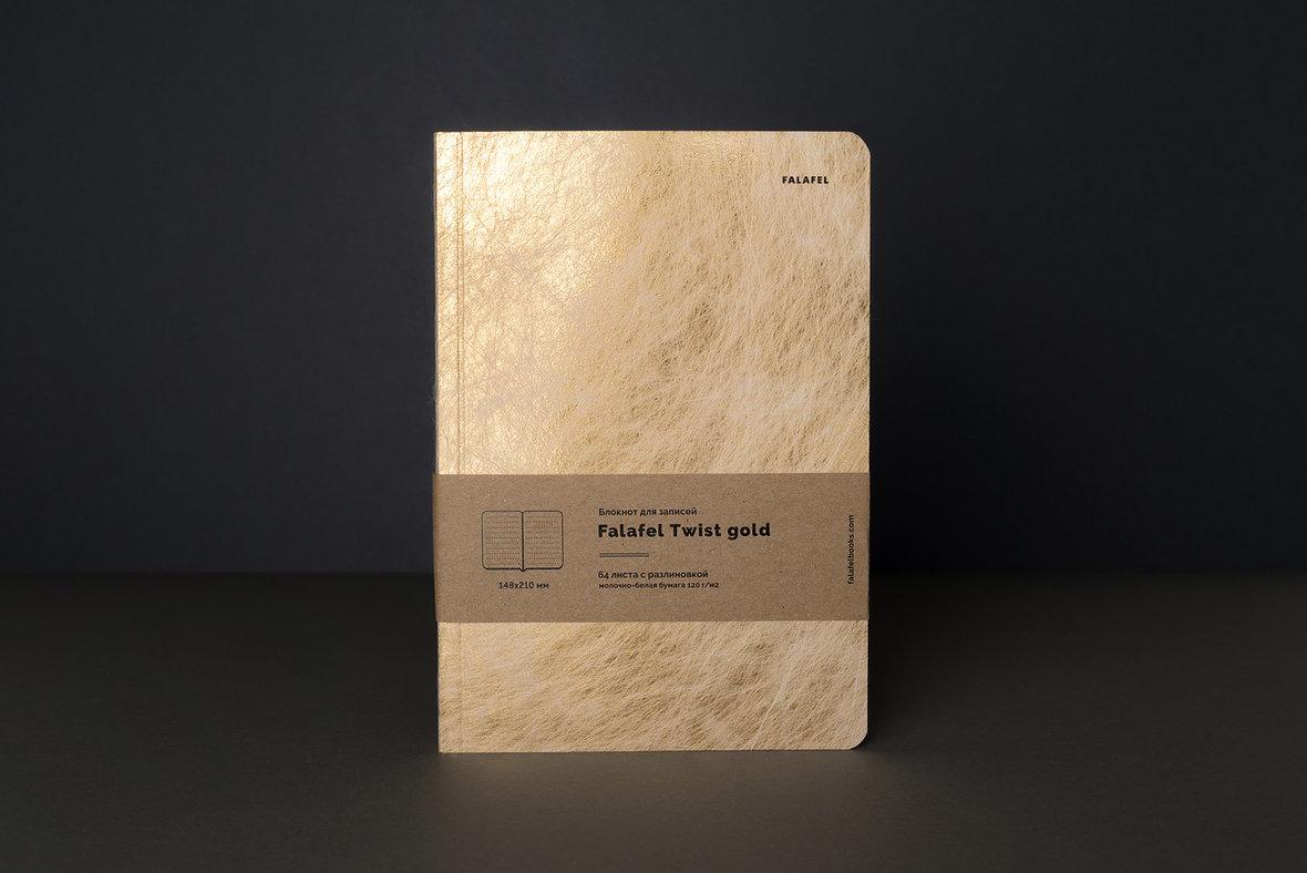 Купить Блокнот для записей FALAFEL BOOKS А5 Twist gold, Россия