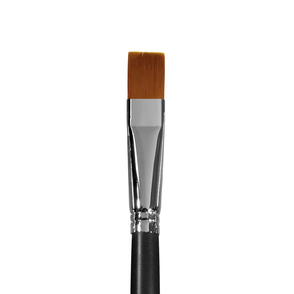 Купить Кисть синтетика №16 плоская Альбатрос Профи длинная ручка, Россия