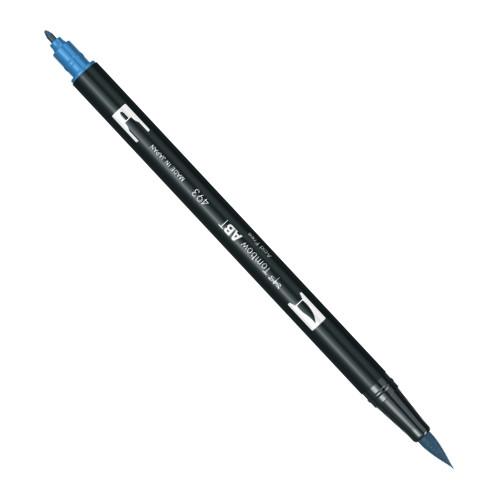 Купить Маркер-кисть двусторонний на водной основе Tombow ABT 493 голубой рефлекс, Япония