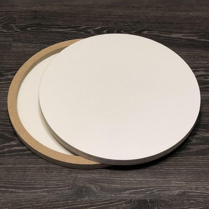 Купить Двусторонняя основа для картины на подрамнике 1, 6 см - круг 40 см, ResinArt, Франция