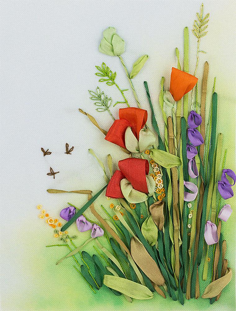Купить Набор для вышивания PANNA Живая картина Полевые цветы. Маки , Россия