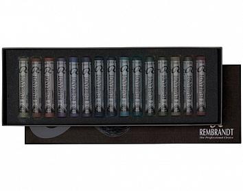 Купить Набор сухой пастели Talens Rembrandt 15 цв, Темные цвета в картонной коробке, Royal Talens