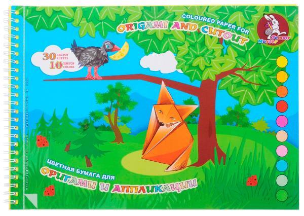 Альбом для оригами и аппликаций Лилия Холдинг Басня А4 10 цв спираль, Россия  - купить со скидкой