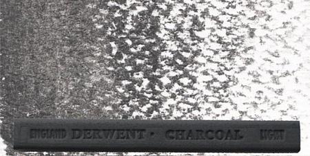 Купить Уголь прессованный водорастворимый Derwent Светлый