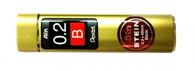 Купить Набор грифелей для механического карандаша Pentel Ain Stein 20 шт 0, 2 мм, B, Япония