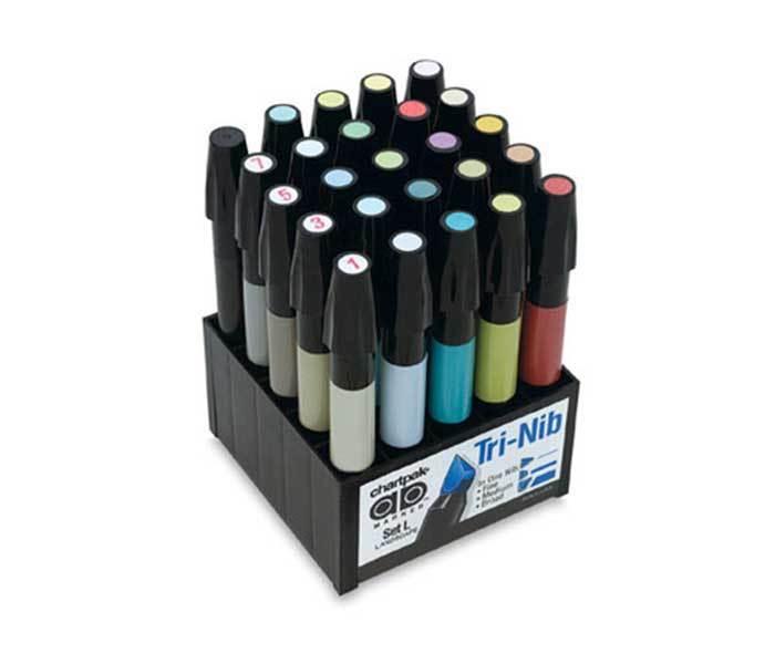 Купить со скидкой Набор маркеров Chartpak 25 шт. пейзаж