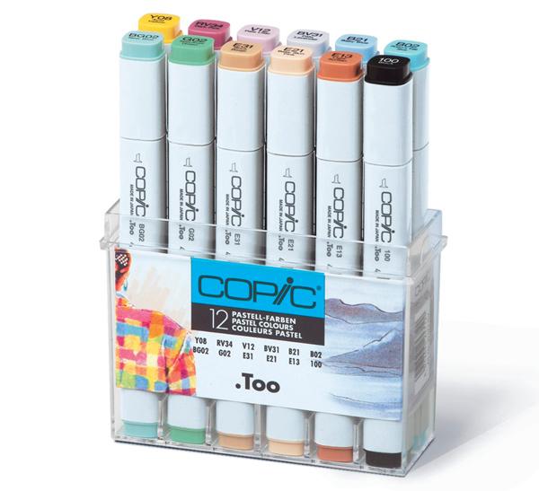 Купить Набор маркеров Copic 12 шт Пастель в пластике, Copic Too (Izumiya Co Inc), Япония