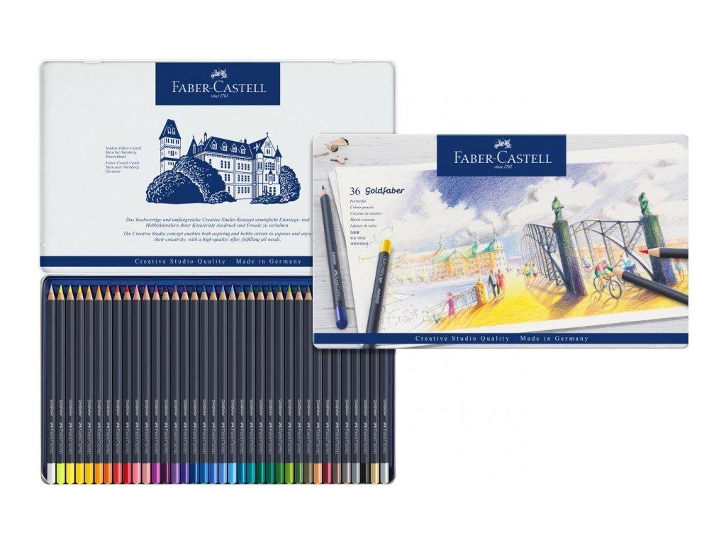 Купить Набор карандашей цветных Faber-castell Goldfaber 36 шт, в металлической коробке, Faber–Сastell, Германия