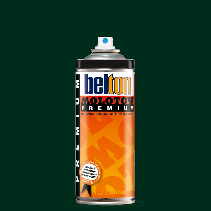 Купить Аэрозольная краска Molotow Premium belton 400 мл #167 black green, Германия