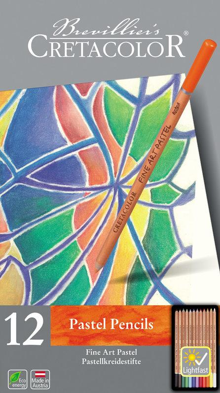 Купить Набор карандашей пастельных Cretacolor Fine Art Pastel 12 шт в металлической коробке, Франция
