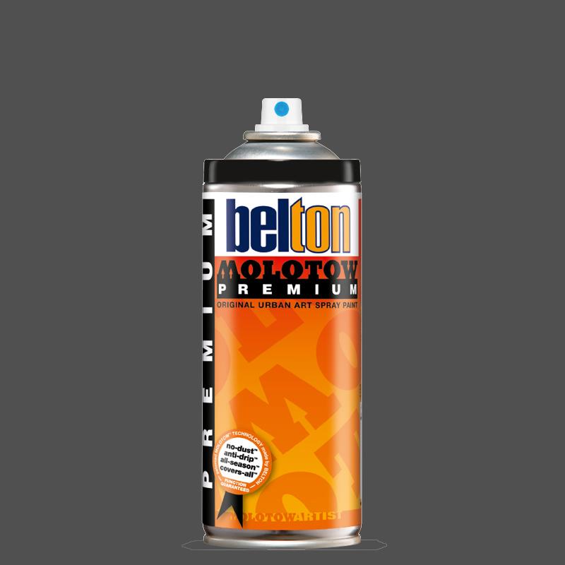 Купить Аэрозольная краска Molotow Premium belton 400 мл #221-2 black grey middle, Германия