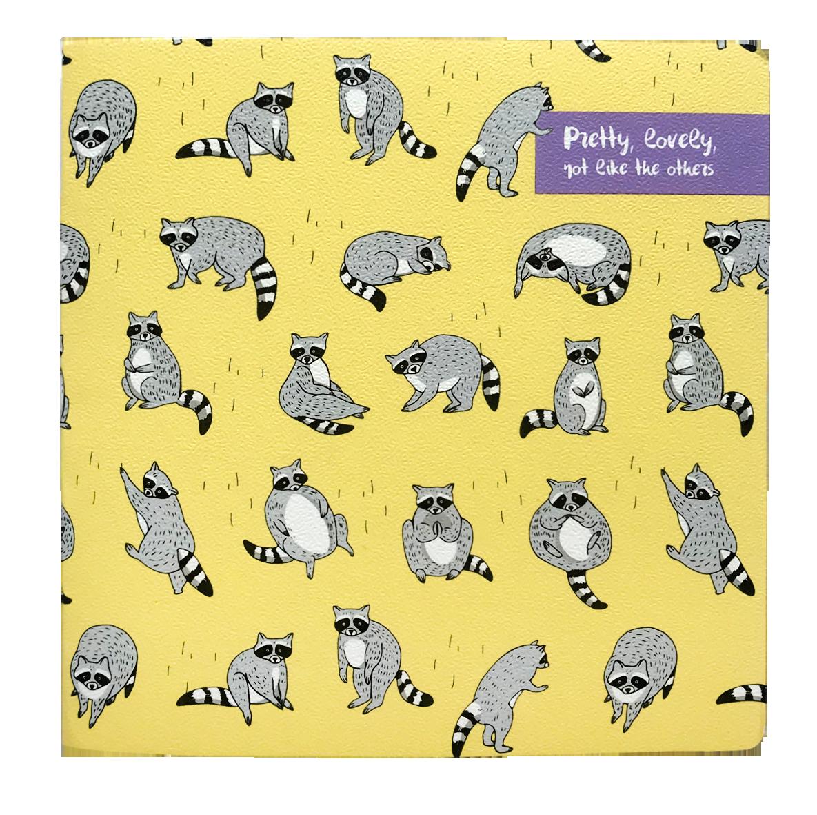 Купить Альбом для рисования Be Smart 17х17 см 20 л 120 г, Коллекция Zoo Еноты, Россия