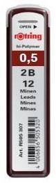Купить Набор грифелей для механического карандаша Rotring TIKKY 12 шт 0, 5 мм, 2B, Германия