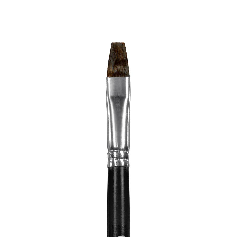 Купить Кисть белка №10 плоская Альбатрос Профи длинная ручка, Россия