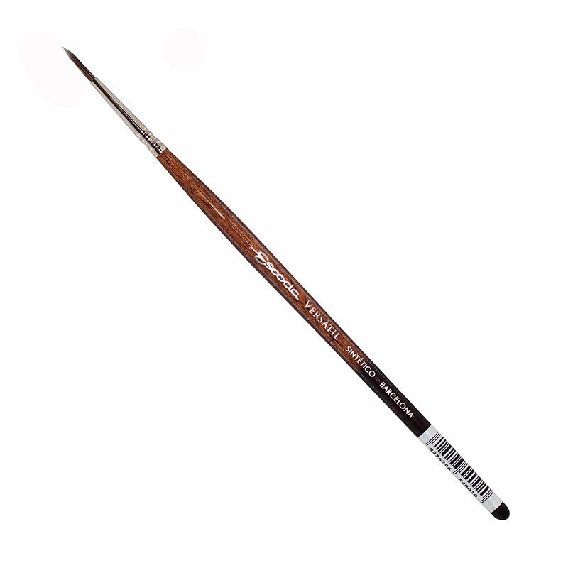 Купить Кисть синтетика №1 круглая Escoda Versatil 1540 Кисть синтетика круглая Escoda Versatil короткая ручка коричневая, Испания