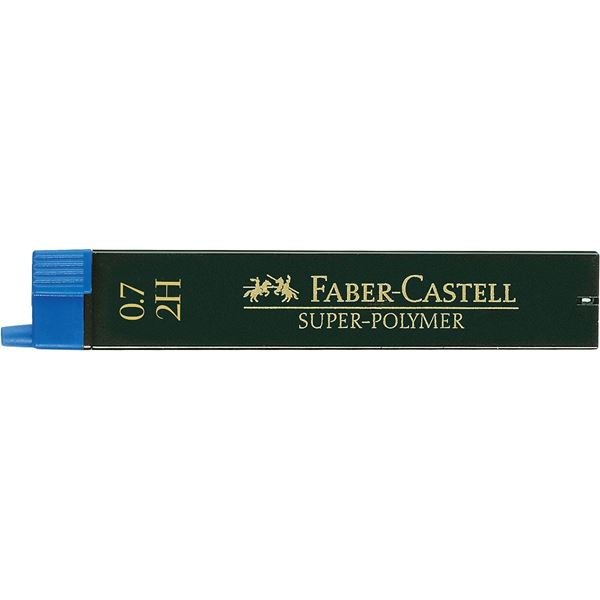 Купить Набор грифелей для механического карандаша Super Polymer 12 шт, 0, 7 мм 2H, Faber–Сastell, Германия