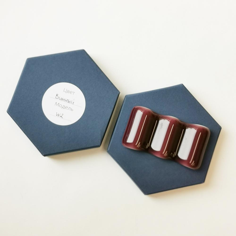 Купить Стеклянная подставка под инструменты, цвет Винный, Vasuri Glass, Россия