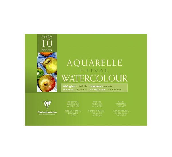 Купить Альбом-склейка для акварели Clairefontaine Etival Torchon 30х40 см 10 л 300 г 100% целлюлоза, Франция