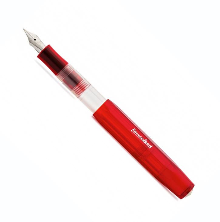 Купить Ручка перьевая Kaweco SKYLINE Sport B 1, 1 мм, чернила синие, корпус красный прозрачный, Германия