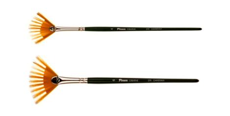 Купить Кисть синтетика веерная Pinax FAN COMB 279 короткая ручка, Китай