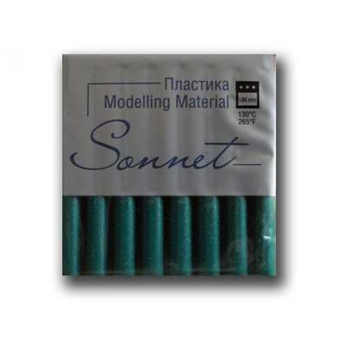 Купить Пластика для запекания Sonnet 56 г с блестками Зеленый, Сонет, Россия