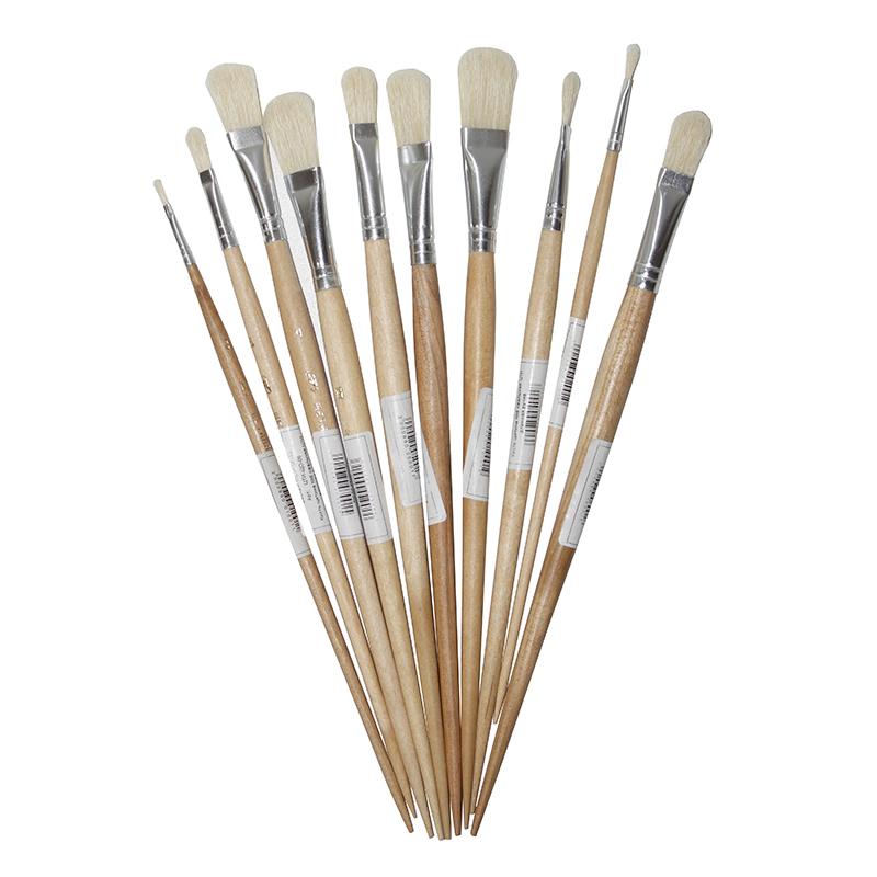 Купить Кисть щетина №6 овальная ЦТИ длинная ручка, Россия