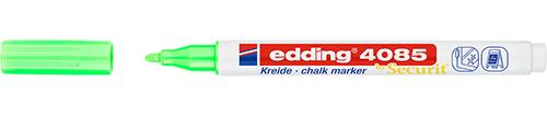 Купить Маркер меловой Edding 4085 1-2 мм с круглым наконечником, зеленый неоновый, Германия
