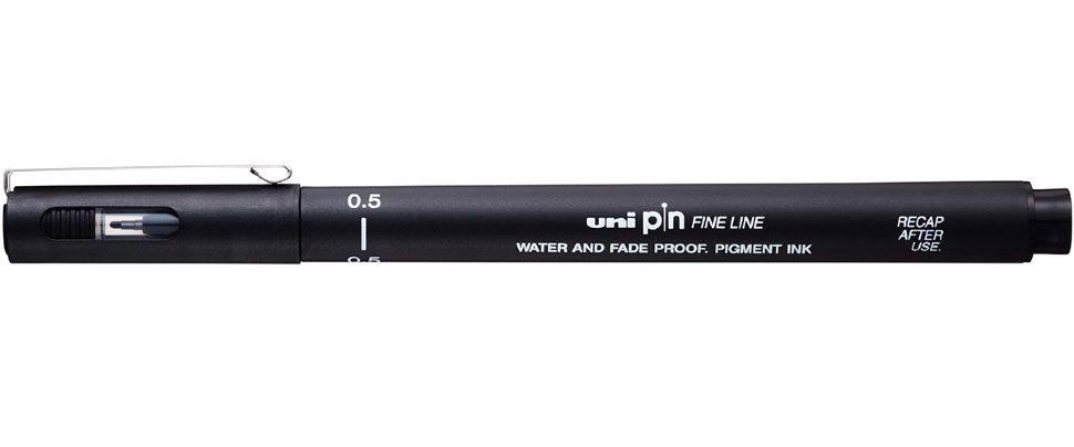 Купить Линер UNI PIN05-200 (S) 0, 5 мм, черный, Япония