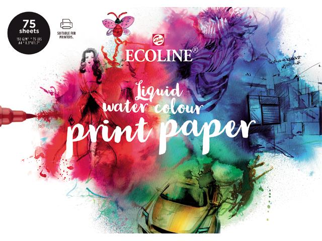 Купить Альбом для рисования Talens Ecoline Printer Paper 21х29, 7 см 75 л 150 г, Royal Talens