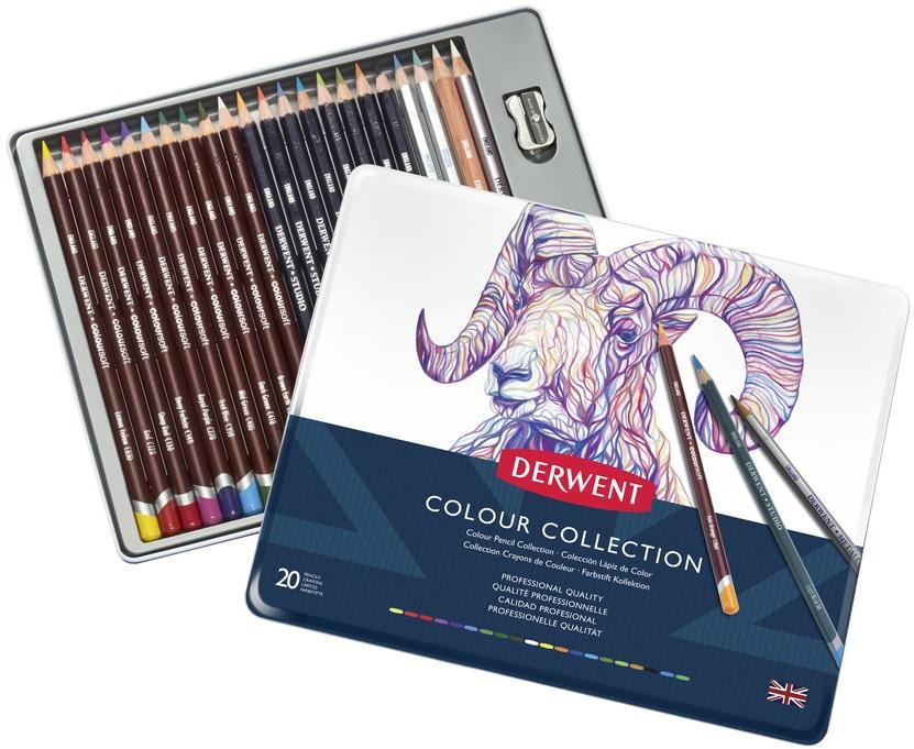 Купить Набор для рисования Derwent Color Collection 24 пр (цв. карандаши, граф.карандаши) в метал кор