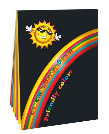 Купить Набор бумаги цветной Лилия Холдинг Счастливые цвета А4 70 л 7 цв Планшет, Россия